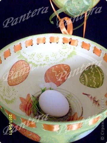 Такой наборчик получился к Пасхе : пасхальное лукошко под яйца и подвески  фото 2