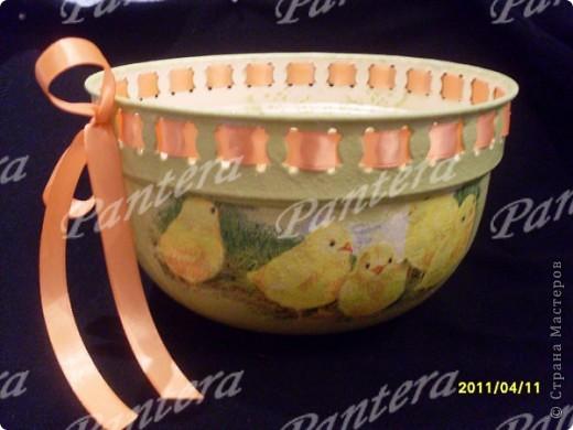 Такой наборчик получился к Пасхе : пасхальное лукошко под яйца и подвески  фото 4