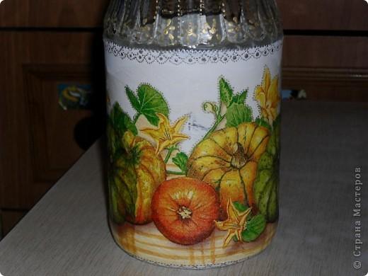 Воттакая бутылочка получилась для тыквенного напитка. фото 3