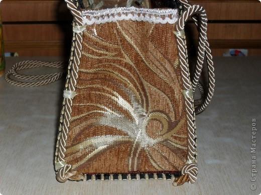 Смастерила для дочери летнюю сумку из бамбуковой салфетки. фото 5