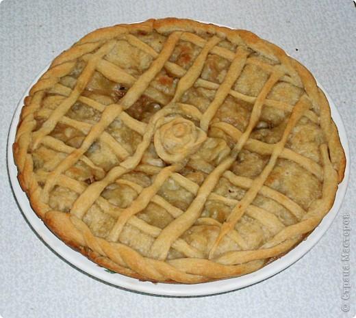 Постный пирог с капустой и грибами.