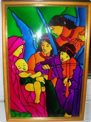 """Копия картины Густава Климта """"Поцелуй"""". Размер стекла 42*47 см.  фото 2"""