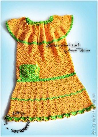 Летний комплект для девочки 4 лет (платье, панамка, гольфы) фото 2