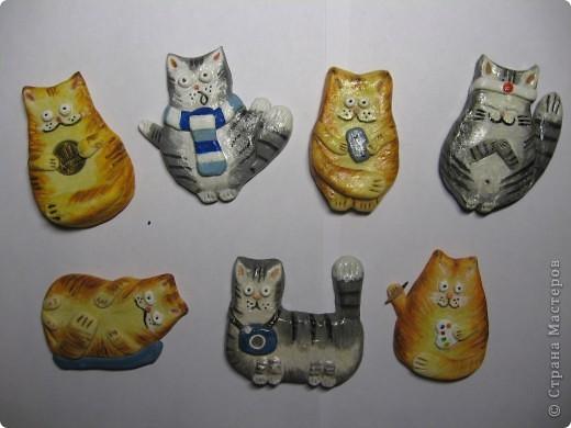 Новогодние коты из теста