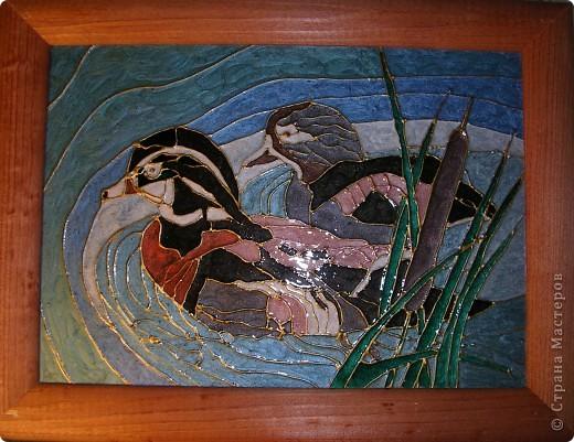 """Копия картины Густава Климта """"Поцелуй"""". Размер стекла 42*47 см.  фото 6"""