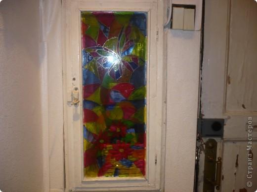 долго меня раздрожала дверца от щетчика в коридоре, вот наконец придумала как ее украсить фото 3