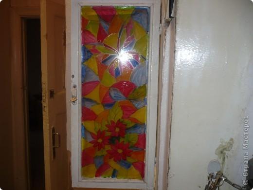 долго меня раздрожала дверца от щетчика в коридоре, вот наконец придумала как ее украсить фото 1