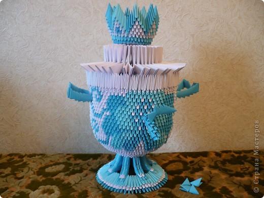 Оригами из модулей самовары