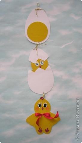 Готовимся к Пасхальной выставке детских работ. Вдохновились идеей http://stranamasterov.ru/node/59424 и сделали с племянницей эту подвеску. фото 1