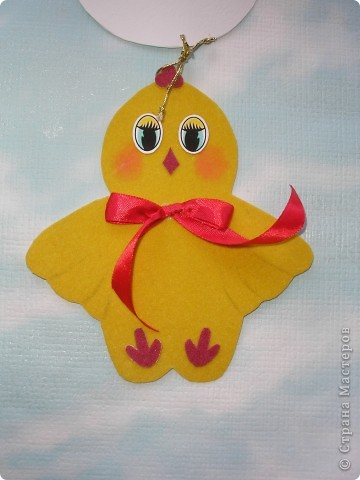 Готовимся к Пасхальной выставке детских работ. Вдохновились идеей http://stranamasterov.ru/node/59424 и сделали с племянницей эту подвеску. фото 5
