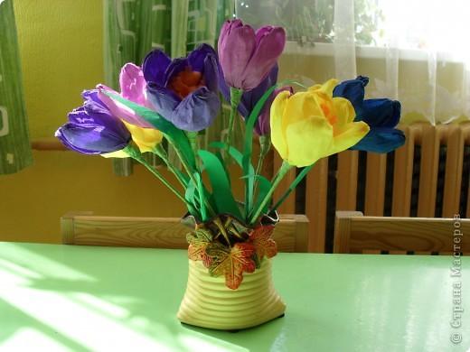 Пришла весна,природа оживает.Вот такие пчелы прилетели к нам.Почти все делали дети 6 лет.Я помогла связать помпоны и пришить крылышки,и разрезали помпоны вместе.Идея не моя,спасибо автору.А еще на дереве  сохнет домик для пчел,нам осталось проделать вход и покрасить. фото 3