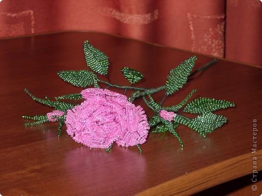 Бисерная роза фото 1