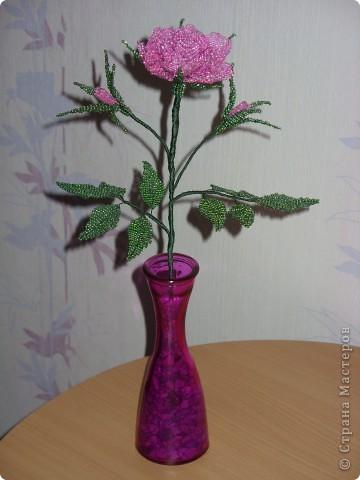 Бисерная роза фото 2