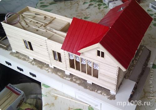 Макет дачного дома с кусочком прилегающей территории. Уже готов первый этаж, баня с верандой. фото 1