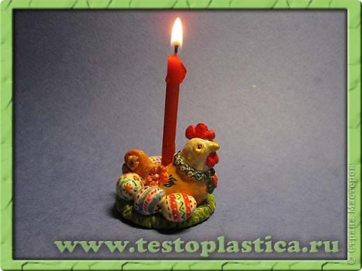 Подставка для пасхального яйца. Ссылка на урок http://testoplastica.ru/view_uroky.php?id=7 фото 4