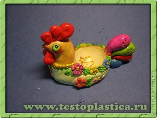 Подставка для пасхального яйца. Ссылка на урок http://testoplastica.ru/view_uroky.php?id=7 фото 1