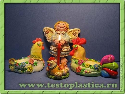 Подставка для пасхального яйца. Ссылка на урок http://testoplastica.ru/view_uroky.php?id=7 фото 6