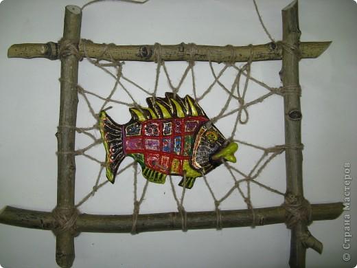 """Рыбки из глины роспись акриловыми красками для керамики. Работы детей . Эти работы учавствовали в конкурсе """"Славное море 2009 год.""""  фото 6"""
