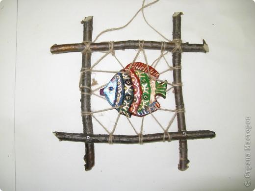 """Рыбки из глины роспись акриловыми красками для керамики. Работы детей . Эти работы учавствовали в конкурсе """"Славное море 2009 год.""""  фото 3"""