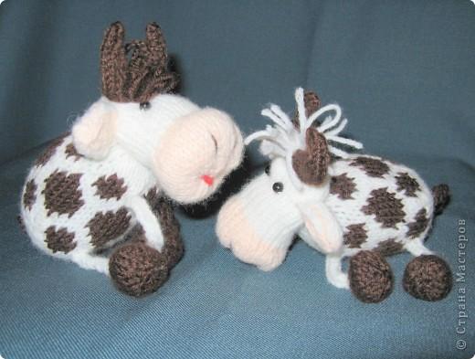 Игрушка Вязание Вязаные коровы