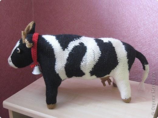 Поделка изделие Вязание корова