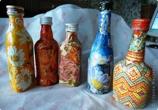 Еще декор бутылок. фото 1