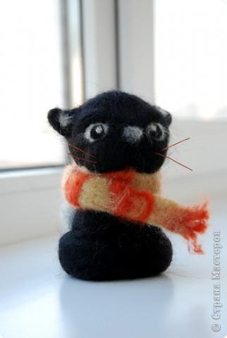 В подарок сестричке появился такой вот Котофей в теплом шарфике :) фото 1