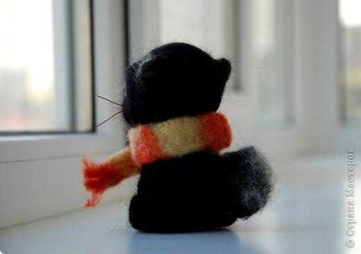 В подарок сестричке появился такой вот Котофей в теплом шарфике :) фото 3