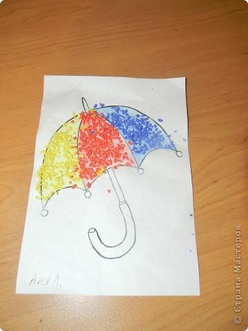 Работа с малышами, весенний зонт.