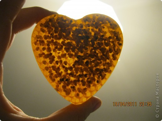 Вид сбоку. Приятный аромат меда. фото 2