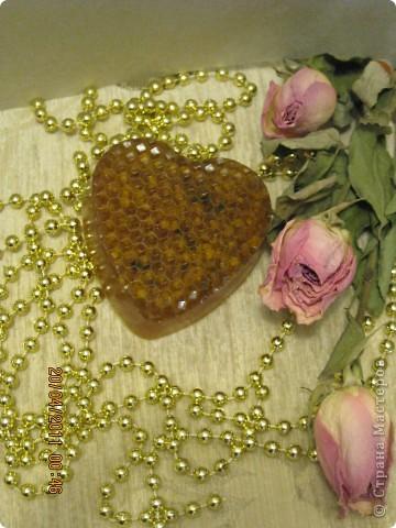 Вид сбоку. Приятный аромат меда. фото 3