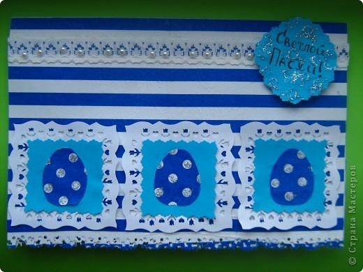 Открытка по пасхальному скетчу Лены http://stranamasterov.ru/node/177201 Используемые материалы: салфетки, офисная бумага, кружево, полубусины.