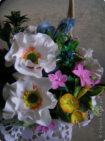 Корзина с цветами фото 5