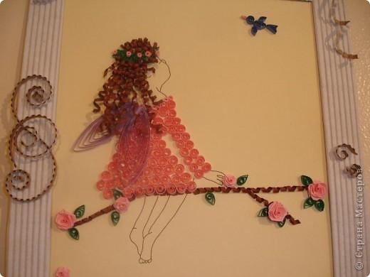 Девочка из набора, рамка сделана вручную из гафро картона. фото 2