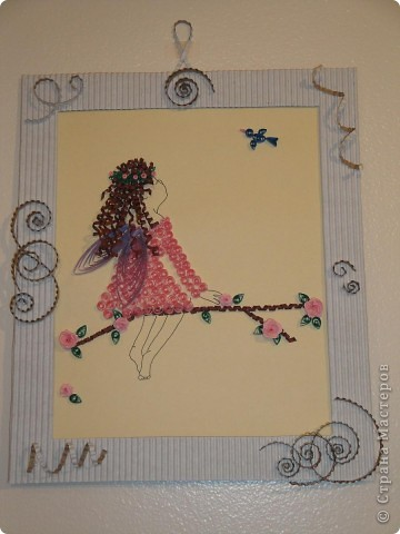 Девочка из набора, рамка сделана вручную из гафро картона. фото 1