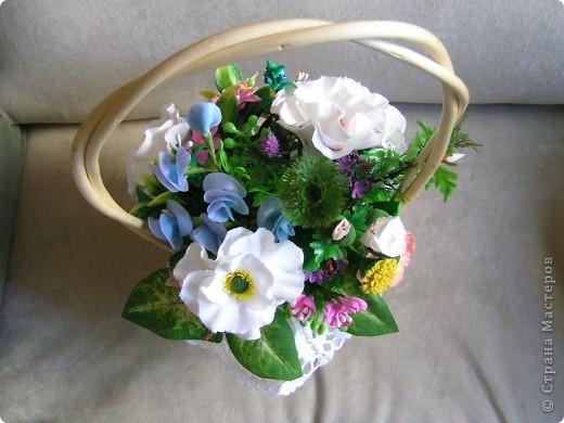 Корзина с цветами фото 4