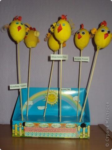 Цыплятки на палочках фото 1