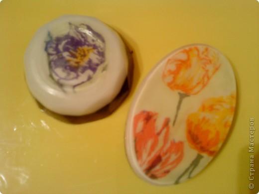Мыло с люфой. Ванильно-вишневое. фото 2