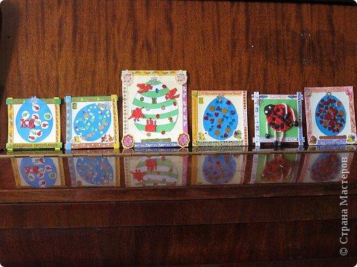 Вот такие открыточки получились у нас с детками (3 и 4,5) к Пасхе! фото 1