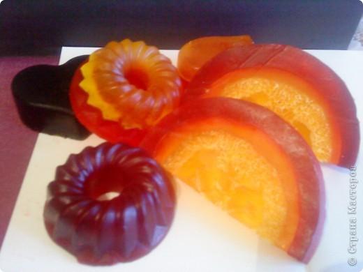 Мыло с люфой. Ванильно-вишневое. фото 1