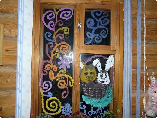 Новогоднее окно фото 1