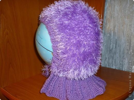 моделью выступил глобус, потому, что та которой предназначена эта шапка очень далеко от меня((( фото 3