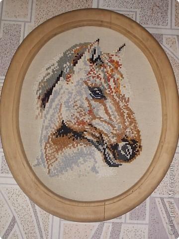 Моя доченька рождена в год лошадки. И эта картина была вышита для нее фото 1