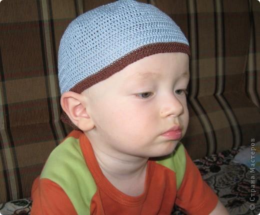 Вот такой летний берет  для дочки по мастер- классу Голубки http://stranamasterov.ru/node/79475 фото 3