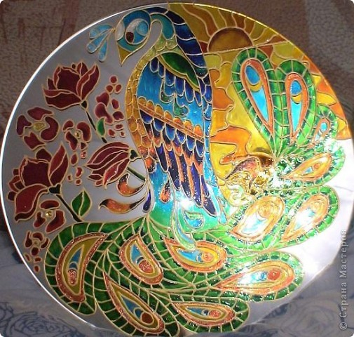 Витражная роспись на зеркале фото 3