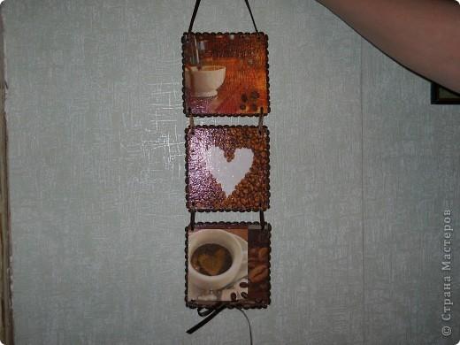 Теперь и у меня кофейное панно. Фанера, декупаж, кофейные зерна. фото 1