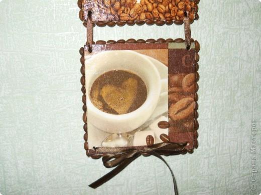 Теперь и у меня кофейное панно. Фанера, декупаж, кофейные зерна. фото 4