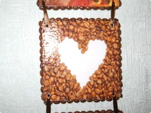 Теперь и у меня кофейное панно. Фанера, декупаж, кофейные зерна. фото 3