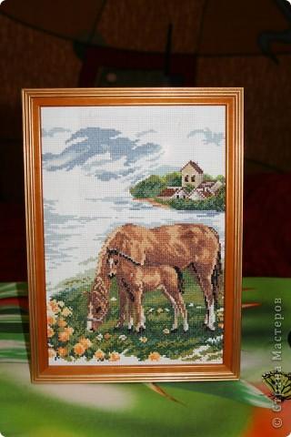вот такие лошадки (рамка стоя на гладильной доске) фото 1