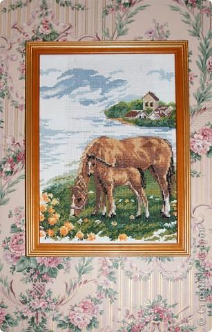 вот такие лошадки (рамка стоя на гладильной доске) фото 2